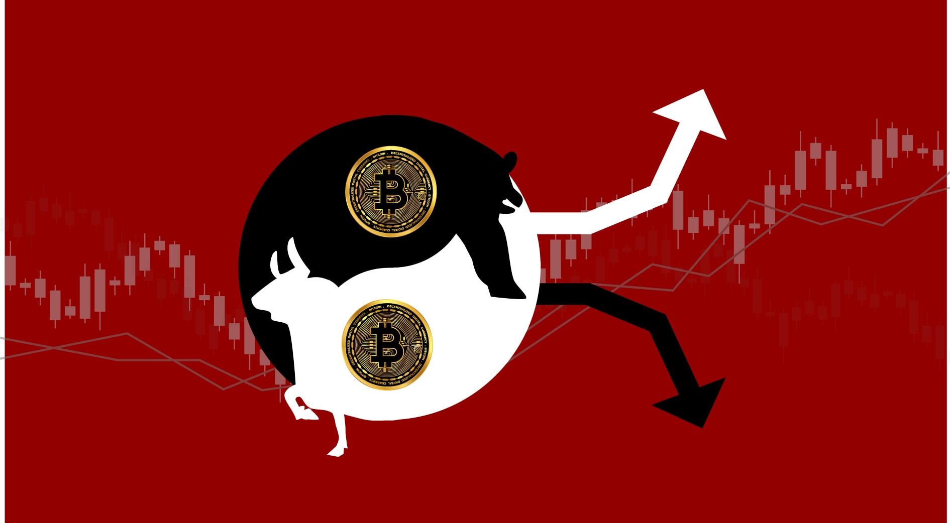 Bitcoin price volatile markets digital cryptocurrency mining
